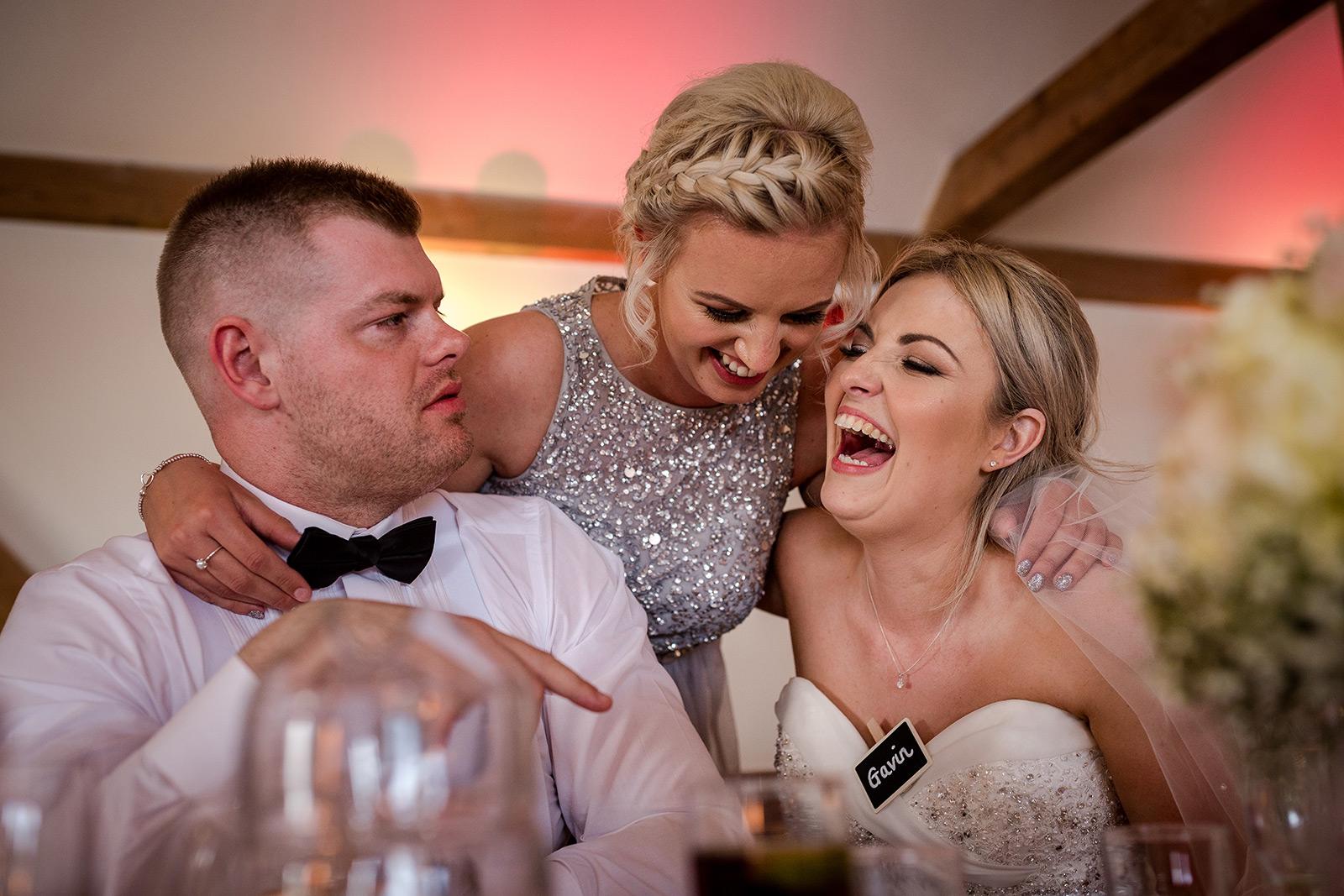 Guests enjoying a Sandhole Oak Barn Wedding