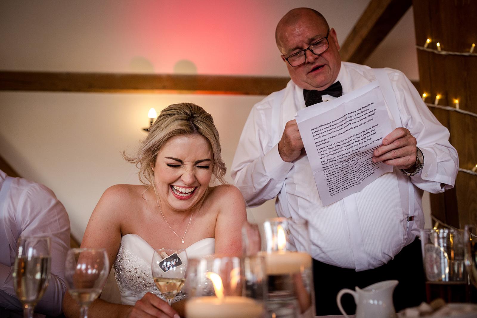 speeches at a Sandhole Oak Barn Wedding