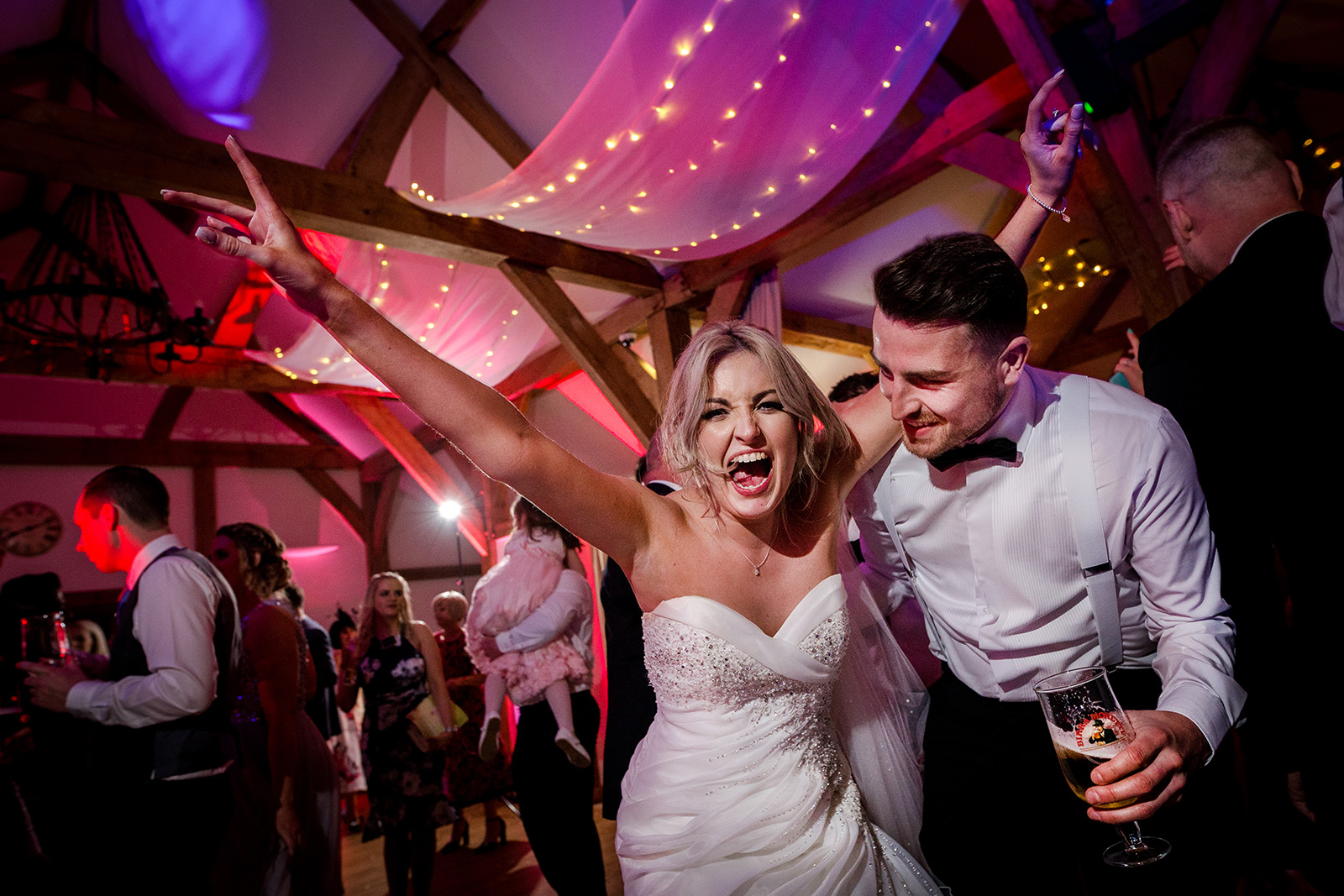Sandhole Oak Barn Wedding Party
