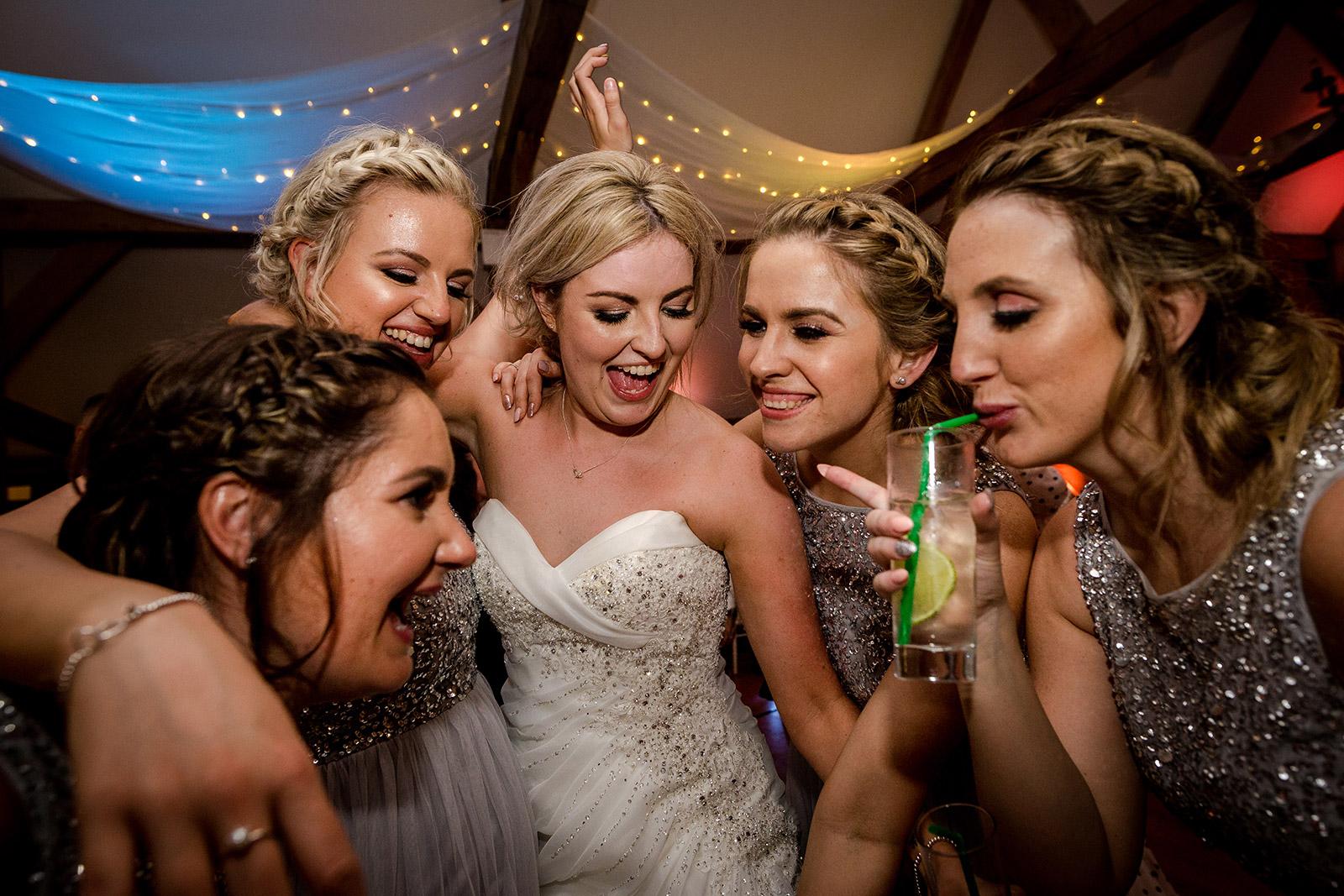 Sandhole Oak Barn Wedding Party