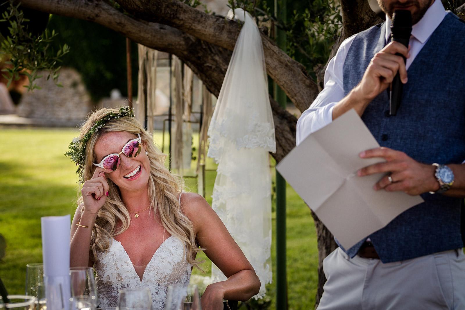 Speeches at Torre del Veguer Wedding