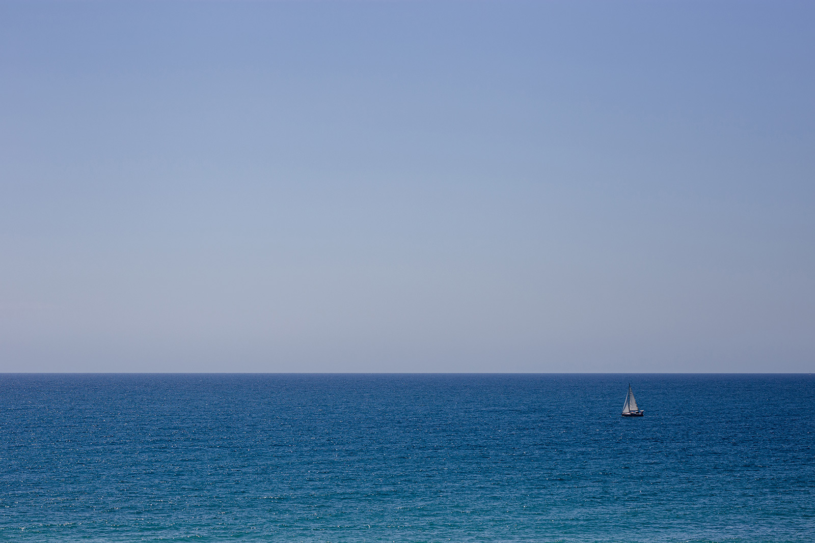The sea in Sitges
