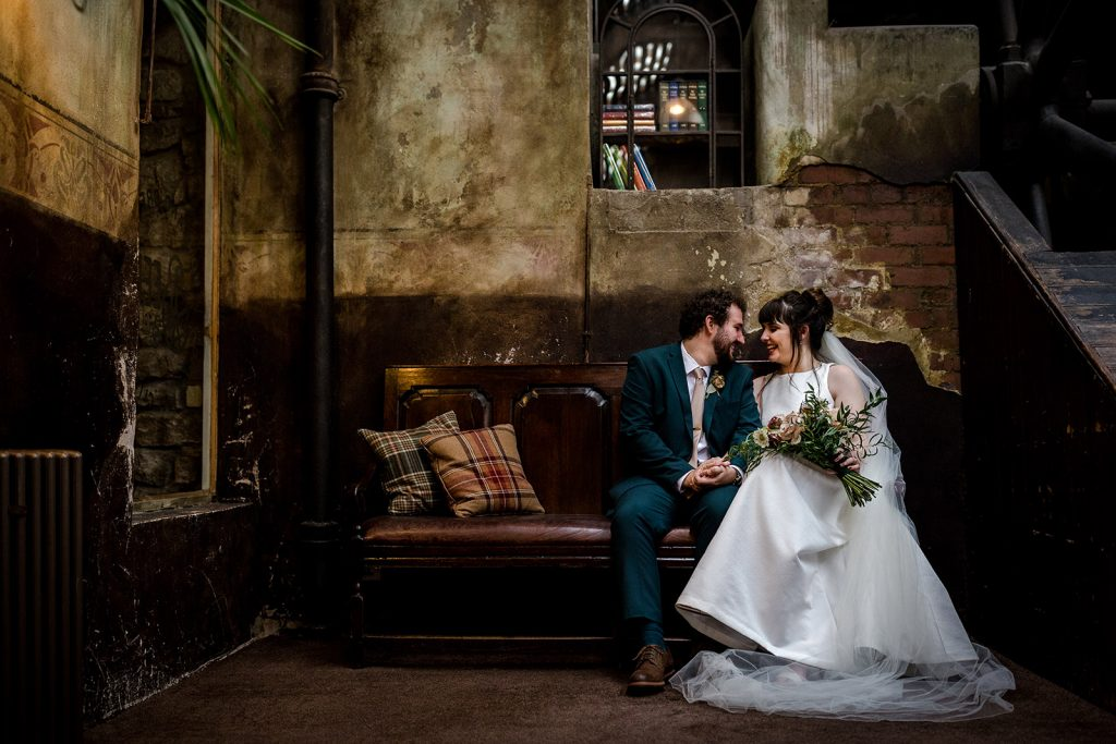 Shauna & Travis during their Holmes Mill Wedding in Clitheroe