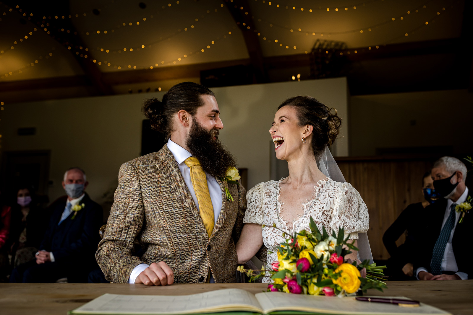Stylish and Relaxed Celebration at Hidden River Cabins Wedding Barn in Cumbria
